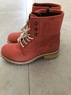 Sancho Desert Boots red leather