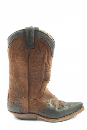 Sancho Boots Buty w stylu western brązowy-jasnoszary W stylu casual