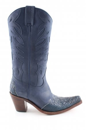 Sancho Western Boots blue casual look