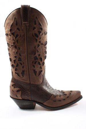 Sancho Boots western brun style classique
