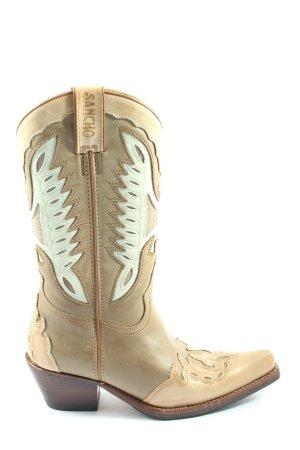 Sancho Boots western crème style décontracté