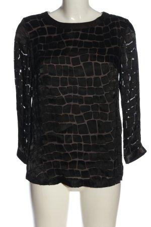 Sand Copenhagen Camicetta a maniche lunghe nero stampa integrale stile casual