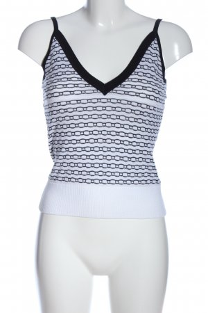 Sand Copenhagen Knitted Top white-black allover print casual look