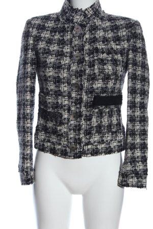 Sand Copenhagen Tweedblazer schwarz-weiß abstraktes Muster Business-Look