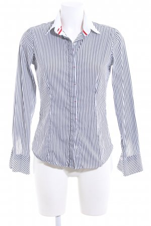 Sand Long Sleeve Shirt white-blue striped pattern casual look