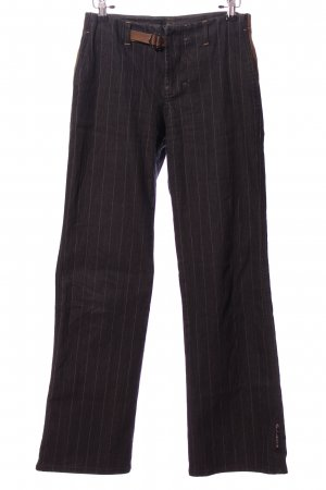 Sand Jeans Pantalon «Baggy» noir-blanc cassé motif rayé style décontracté