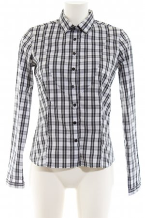 Sand Long Sleeve Shirt black-white allover print casual look