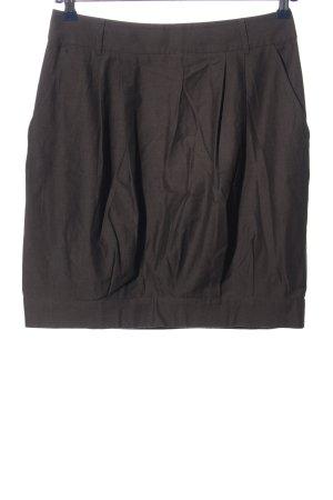 Sand Miniskirt brown weave pattern business style