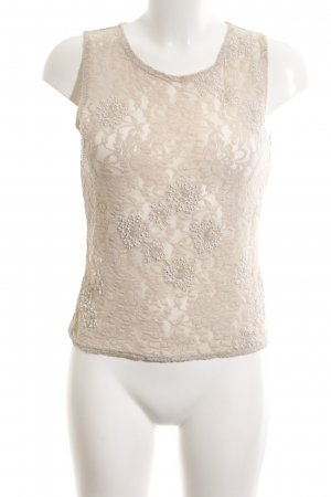 Sand Lace Top natural white elegant
