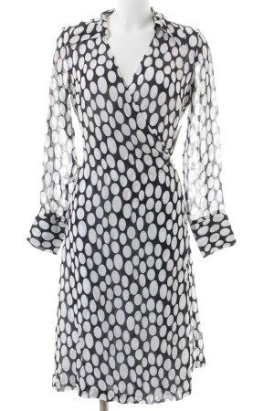 Sand Wraparound black-white spot pattern street-fashion look