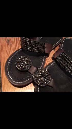 Sandal / Latschen aus Afrika mit echten Perlen Handarbeit