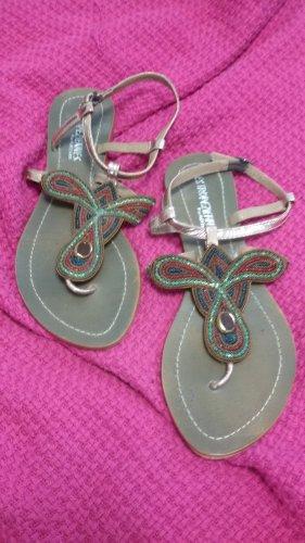 Les Tropéziennes Toe-Post sandals bronze-colored