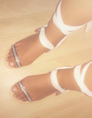 Sandale d'extérieur blanc-argenté