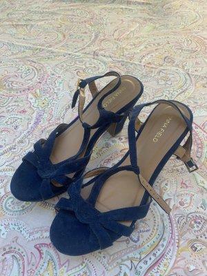 Sandales à talons hauts et plateforme bleu