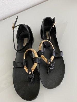 Baldinini Sandały japonki czarny-złoto