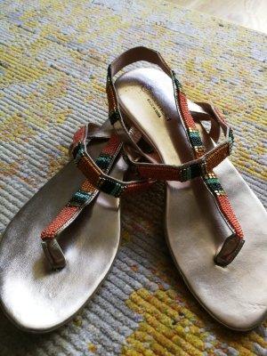 Promod Sandalo con tacco alto e lacci a T multicolore Pelle