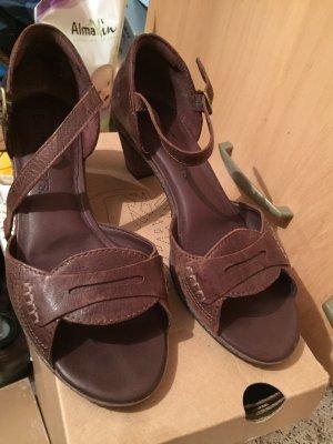 Sandale Dunkelbraun, echtes Leder