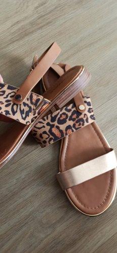 Sandale Gold/leoprint