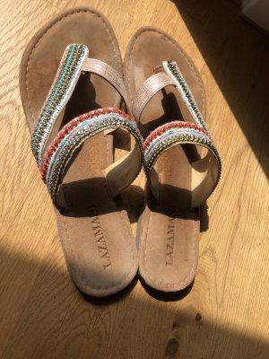 Lazamani Toe-Post sandals multicolored
