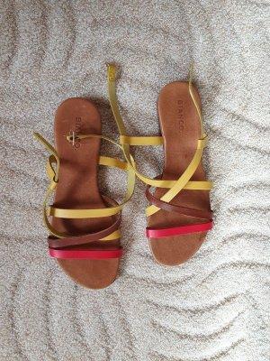Sandale , Leder, gr 39, rot gelb braun, Bianco , gr 39 Sommerschuhe NEU Sandaletten