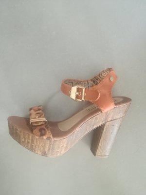 Sandale mit Leopardendruck