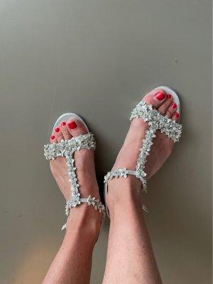 Sandale mit Strass