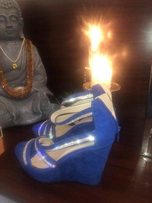 Platform Sandals blue