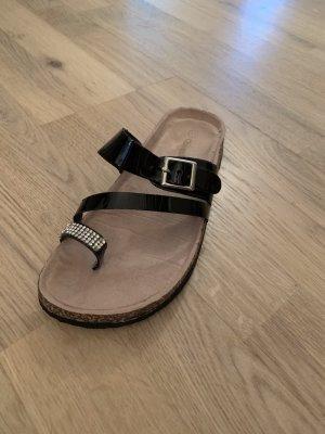 Queentina Toe-Post sandals black