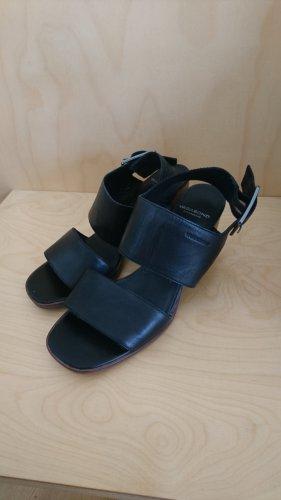 Vagabond Sandały japonki z rzemykami czarny-jasnobrązowy