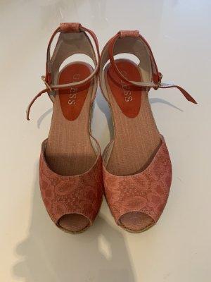 Guess Sandalo alto con plateau rosa antico-crema