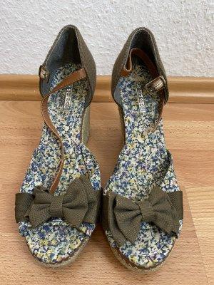 Sandale von La Strada mit Keilabsatz aus Bast