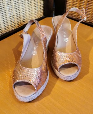 Tamaris Espadrille Sandals rose-gold-coloured