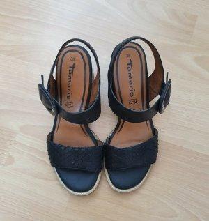 Tamaris Comfort Sandals black leather