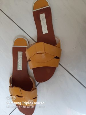 Zara Basic Dianette Sandals grey brown-gold orange