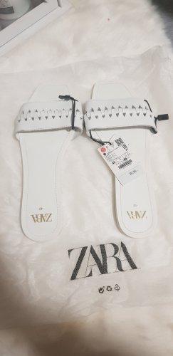 Zara Sandały outdoor biały