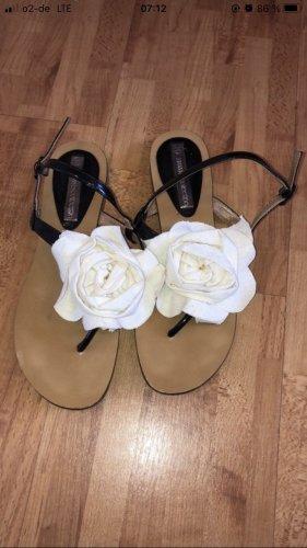 3suisses Sandały rzymskie w kolorze białej wełny