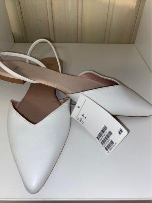 H&M Sandalias cómodas blanco-crema