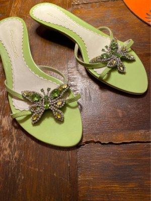 Sandalo toe-post verde chiaro