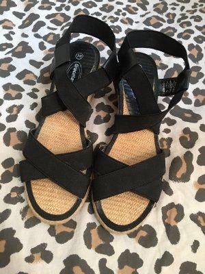 Graceland Espadrille noir-crème