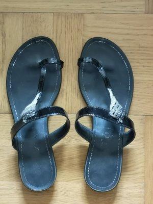 cerruti 1881 Sandały japonki czarny-srebrny