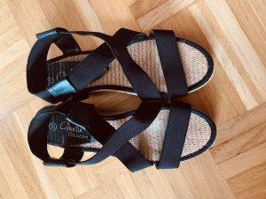 Claudia Ghazzani Romeinse sandalen camel-zwart