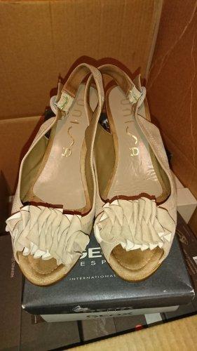 Unisa Wedge Sandals light brown-beige