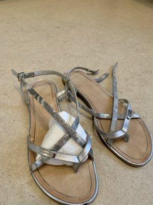 Jumex Sandalo infradito con tacco alto argento
