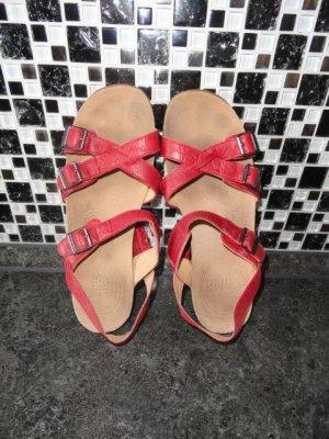 Clarks Sandalias cómodas rojo oscuro Cuero