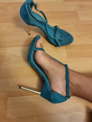 H&M Sandales à talon haut bleu cadet