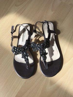 Buffalo Sandalo toe-post grigio