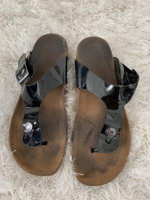 Sandalo romano nero-bronzo