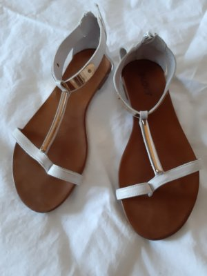 Inuovo High-Heeled Toe-Post Sandals white
