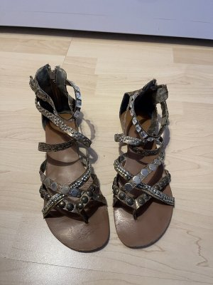 Roman Sandals silver-colored-brown
