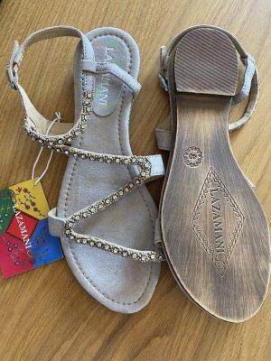 Sandalen 40 beige Leder